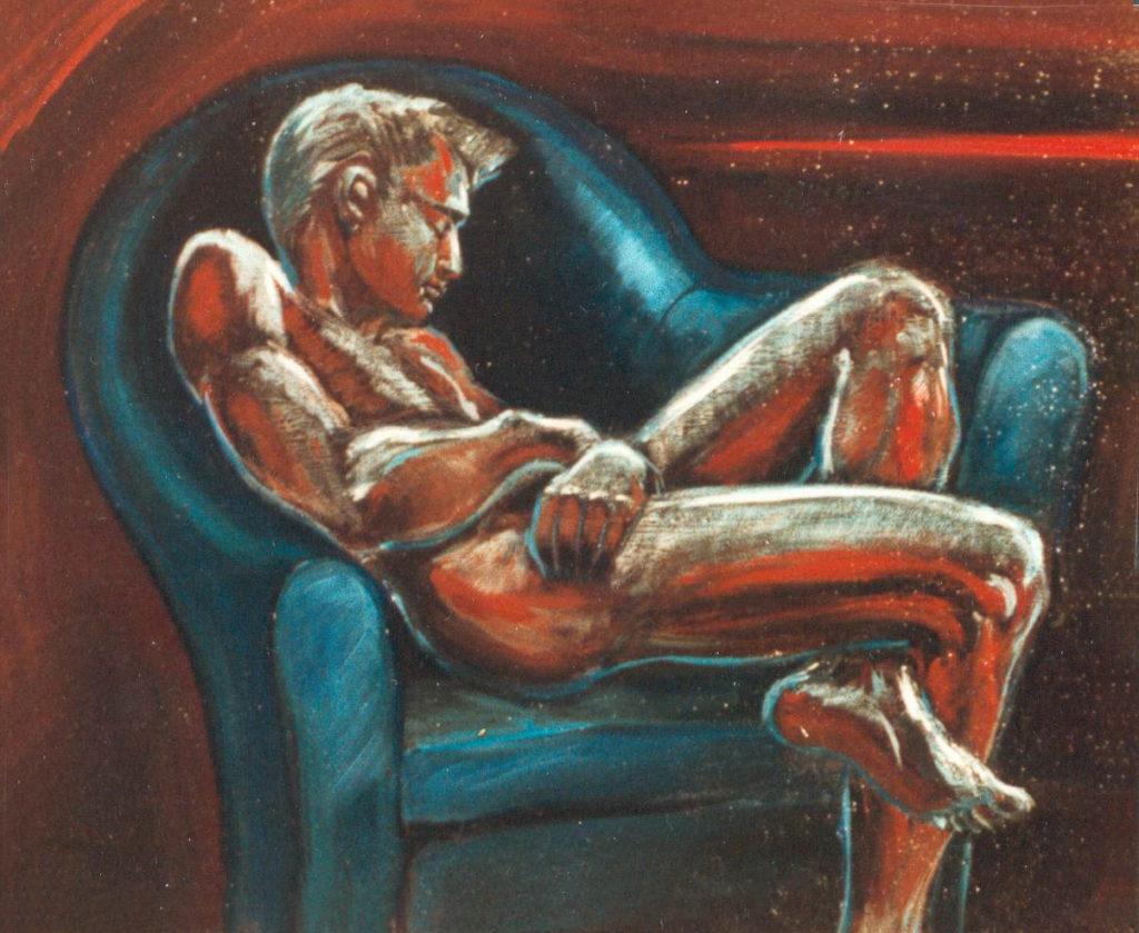 Le fauteuil bleu 55x46